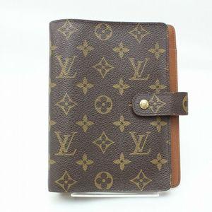 💯Auth Louis Vuitton DiaryCover Agenda MM Monogram